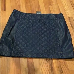 NWT A&F leather blue skirt